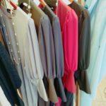 オリジナルワンピース☆シフォンのバルーン袖☆
