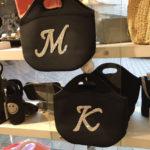 キラキラローマ字がポイント♪ お花見にも活躍のダイバー素材ミニバッグ