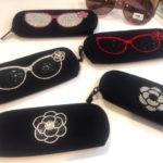 キラキララインストーン☆ダイバー素材眼鏡ケース 大きめサングラスもしっかり収納♪